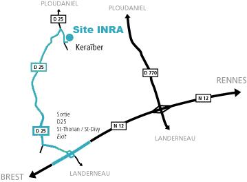 Plan d'accès site Ploudaniel